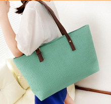 2014 European and American style embossed leather handbag women's/ women's gifts shopping tote bag
