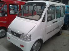left steering white mini van with battery power