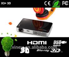 Hottest ! Coolux X3S LED DLP 3D mini portable projector