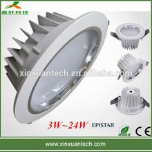 2700k-7200k Epistar chip recess led downlights 15w high power