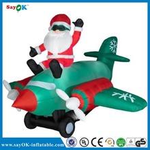 Inflatable Christmas santa airplane/Inflatable santa airship
