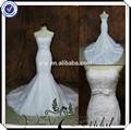 Tt0512 Backless sexy low cut sereia vestido de casamento real imagem