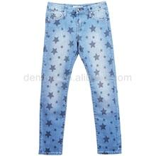 SM-1111-F1 washing mustache print big star jeans pants stock lot