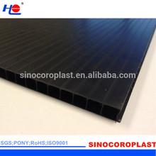 Black Plastic Fluted Corrugated Sheet