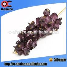 Wholesale single branch orchid flower,artificial orchid flower,PU Artificial flower