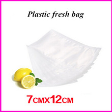 7cm*12cm plastic vacuum bag sealing package air sealer for food products retain freshness preserve