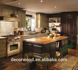 Cherry Glazed New design Frameless wood kitchen cupboard