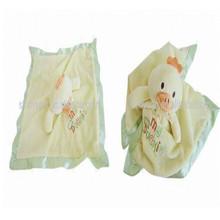 High quality best soft plush stuffed blankets/newborn baby blankets