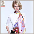 wholsaleイスラム教のヒジャーブ100サテン絹の正方形スカーフ