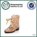 Mulheres botas de chuva jekecon sapatos jardim b-813