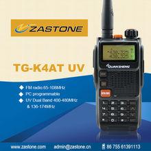 New Arrival Good Quality Quansheng TG-K4AT(UV) walkie talkie Dual Band 5W 128CH FM Portable Two-way Rdio