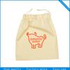 Custom printed hot stamping logo small drawstring cotton bag for gift