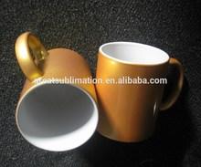 11 oz sublimation printable ceramic mugs light gold pearl finish