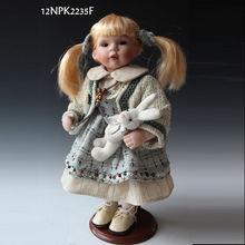 12 polegadas casa decoração cerâmica boneca decoração de natal bonecos