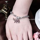 2014 New arrival unique design cute elephant red crystal bracelets lovely vintage hand chain rhinestone bracelets for girls