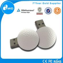 Popular promotional custom PVC golf ball mini 2gb flash drive usb stick