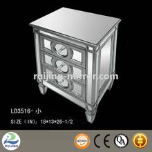 mirror glass white nightstand