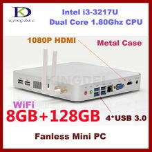 Kingdel Thin client nettop computer 8GB RAM 128GB SSD Intel i3 dual core quad threads Wifi HDMI USB 3.0 VGA ports Window 7