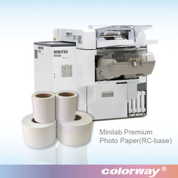 "frontier dx100 photo paper 5"",6"",8""x65m dry minilab paper for Noritsu/fuji dry lab glossy/satin photo paper"