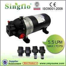 Singflo DP-160 12V DC 5.5LPM 160Psi 10.5A high pressure hydraulic pumps
