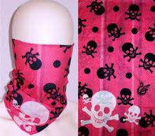 Skull Face Tube Mask Motley Neck Gaiter Shield Seamless Ski Bandana