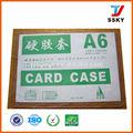 Caja de papel A4 caja de documentos PVC caja de PVC duro