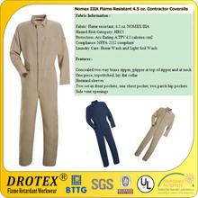 EN11611 EN11612 Flame Retardant Fireman Protective Suit/ Nomex IIIA Flame Resistant 4.5 oz. Contractor Coveralls