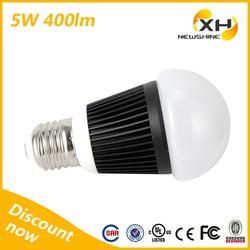 3 years warranty cool white b22 5 watt led bulb, lampada led e27, led lamp 220v e27