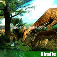 Great Quality Exhibit Animal Animatronic Simulation Life Size Giraffe