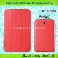 high qualtiy slim tablet cover case smart cover case for samsung galaxy tab note 8.0 N5100,for samsung galaxy tab case