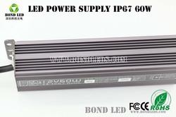 IP67 PF>0.95 5*10*1W waterproof led power supply 5A