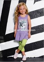 yeni moda kız bebek giyim eşleşen giyim setleri