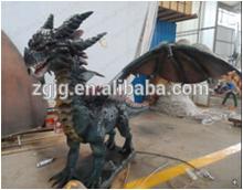 Theme Park Fiberglass Animatronic Fire Dragon