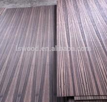 Decorative natural veneer fancy plywood for furniture red sandalwood , walnut ash