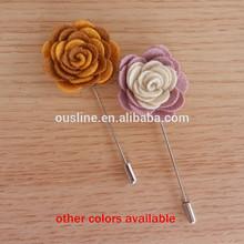 felt rose flower wedding brooch,layered flower wedding decoration corsage