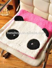christmas gift plush panda chair cushions & cute animal shape plush mat & plush animal panda cushion for kids