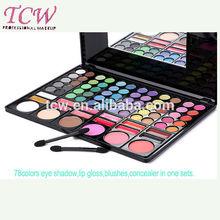 beauty sets,eyes lips face makeup sets,workshop make up,78 colors sets