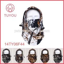 Best quality 250g fleece winter camouflage full head ski hat