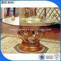 Comedor de ratán ronda de mesa y sillas de comedor bajo gran mesa de madera mesa de comedor d-8002