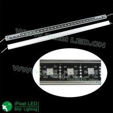 1m DC5V WS2812B LED rigid bar,60pixels/m with transparent cover