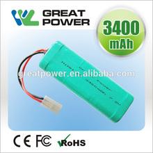 super power 1600mah 9.6v airsoft gun nimh battery pack