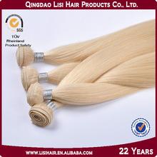 Alibaba Best Seller Qingdao Lisi Wholesale Hair Extensions White Blonde Hair