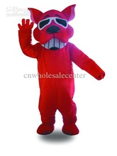 Factory Direct Sale Adult Halloween Christmas fierce big red dog Mascot Costume Party Cosplay Fancy Dress Costume