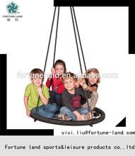 Round metal sling birds nest swing