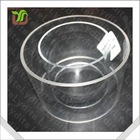 4 inches Clear Transparent Round PVC Plastic Pipe , Plastic Tube