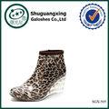 Branco chuva botas de senhora chuva pvc botas/sgx-505