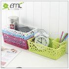 creative plastic storage basket with bubble shape hole