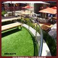 redonda de acero inoxidable barandilla balcón para el jardín