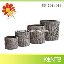 2014 Wholesale tree bark decorative artificial flower pot