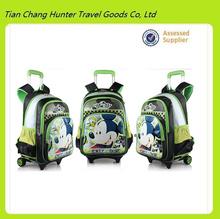 Wholesale disny new style kids trolley school bag with wheels